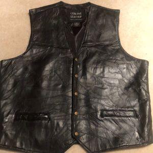 Other - Men's Genuine Leather Motorcycle  Biker Vest.New.